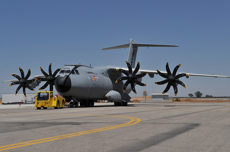 Airbus A400m military turboprop transporter