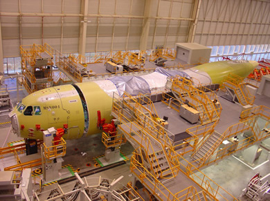 Airbus A400M in production