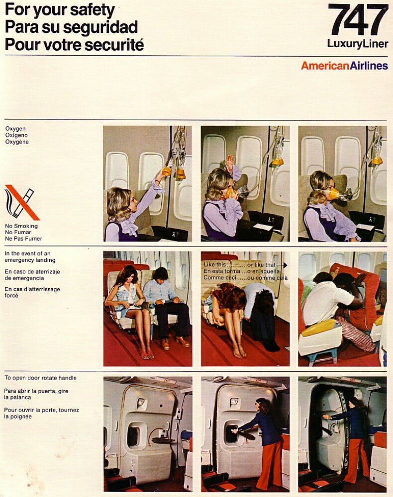 Airline Safety Cards Aa 747 Safety Card Jpg Airbus