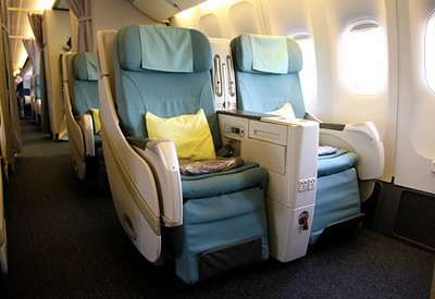 first class airline seating