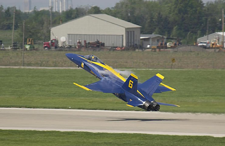 navy blue angels: f18 just feet from the ground