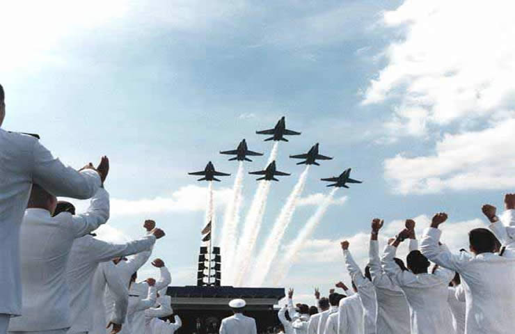 blue angels: fly over aircraft carrier