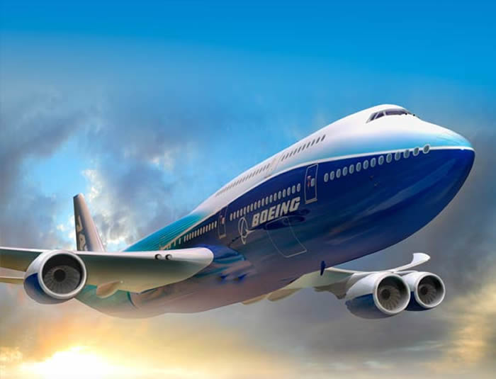 New Boeing 747-8 Intercontinental Airplane Picture - under aircraft view