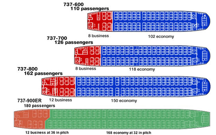 boeing 737 seating charts