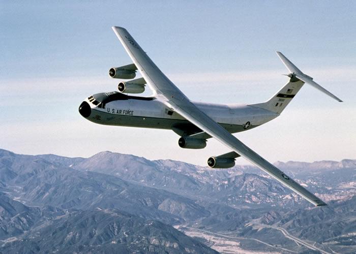 The plane s massive tail