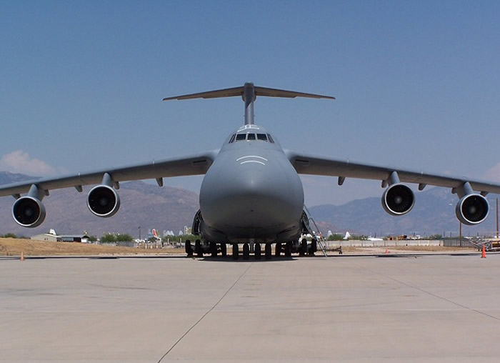 C-5 Galaxy Front Nose View
