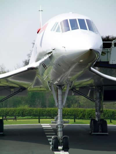 British Airways Concorde Nose View