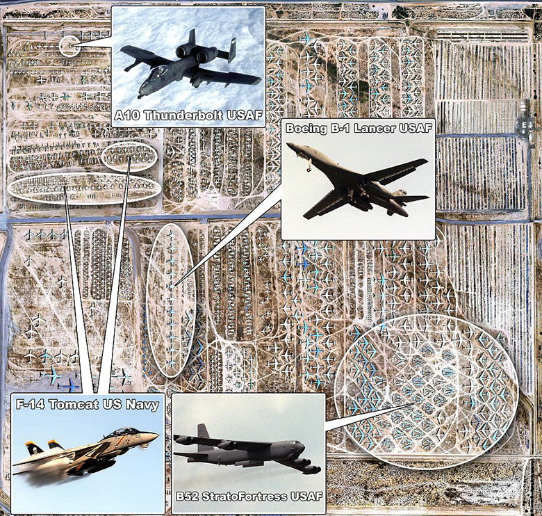 DavisMonthan Air Force Base Military Aircraft Boneyard History - Map Of Naval Aviation Basesin The Us