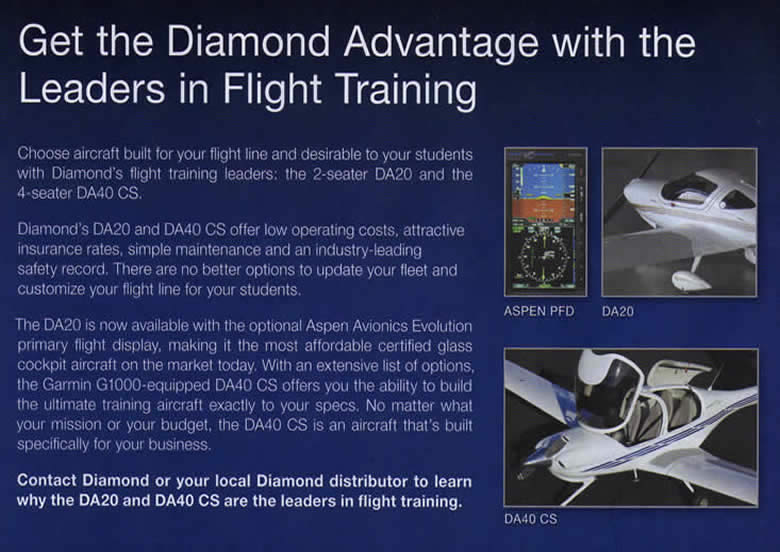 Diamond Aircraft Are Leaders In Flight Training