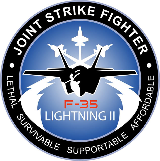 F35 Fighter Aircraft Logo. Design The F-35 appears to be a smaller,