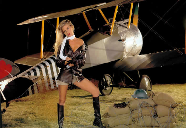 Girls With Airplane Pictures Woman And Aircraft Photos Female Airplane Pilot Calendar Models