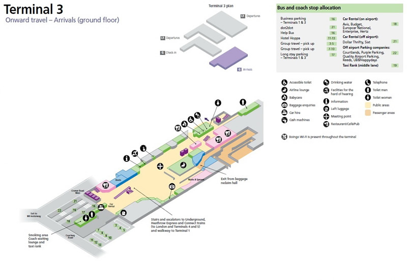 Map of London Heathrow Airport on hotelsbrit.com - photos.