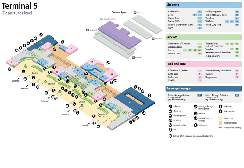Heathrow International Airport Uk Terminal Maps Lhr