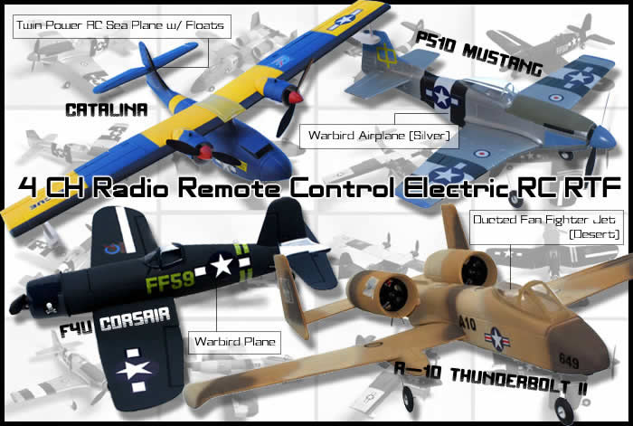 Remote and radio controlled aircraft, helicopters and
