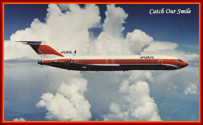PSA Boeing 727 in flight