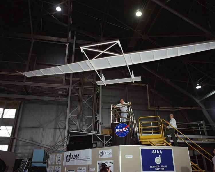 The worlds largest paper airplane made by NASA