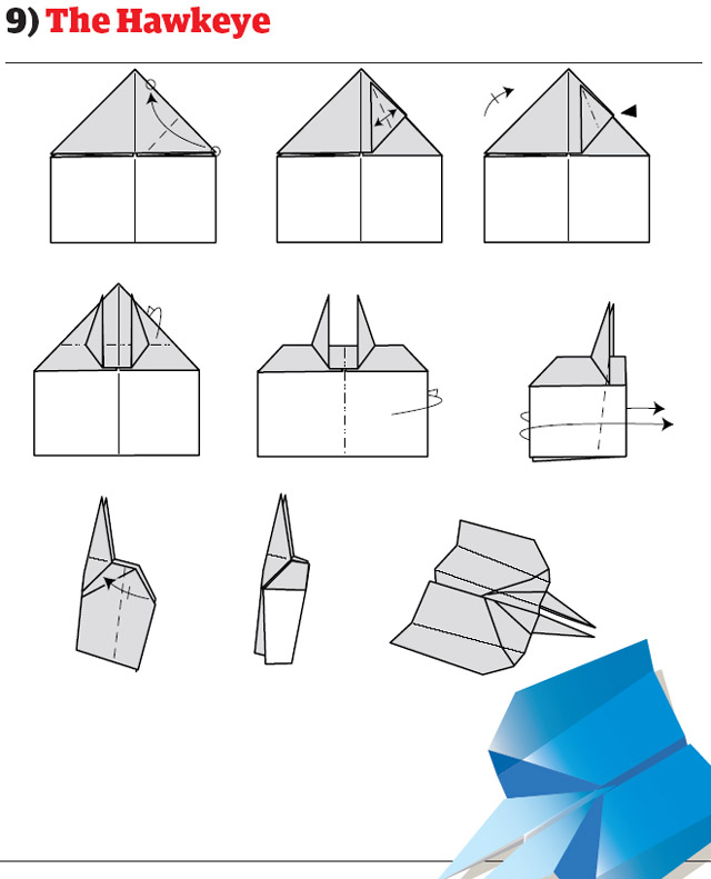 How To Make Cool Paper Airplane Designs Paper Aeroplane The Hawkeye
