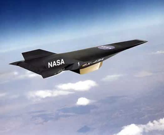 X-43 HYPERSONIC AIRCRAFT IN STUDY BY NASA