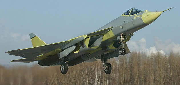 russian sukhoi first flight takeoff image