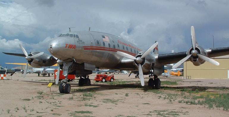 TWA Airlines Constellation prop aircraft