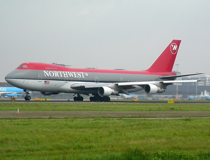 The four-engine 747, produced by Boeing Commercial Airplanes,