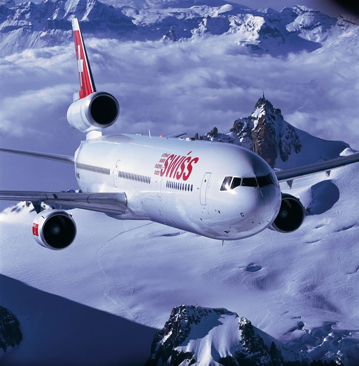 Swiss Airlines MD-11 Airliner