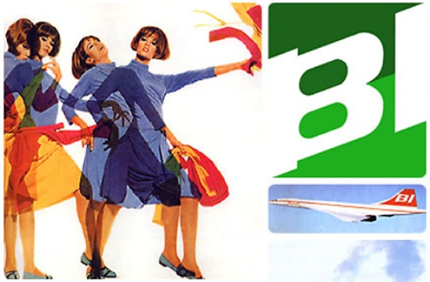 Crazy Braniff Airline Stewardess