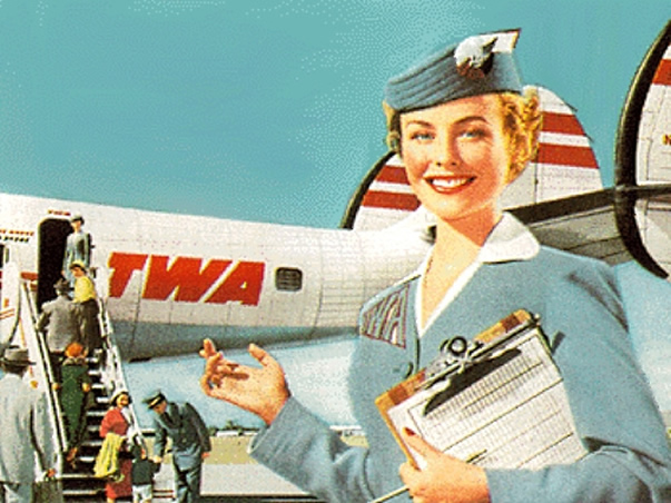 TWA Stewardess Picture
