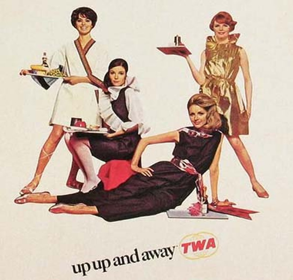 Vitage TWA Stewardess Picture