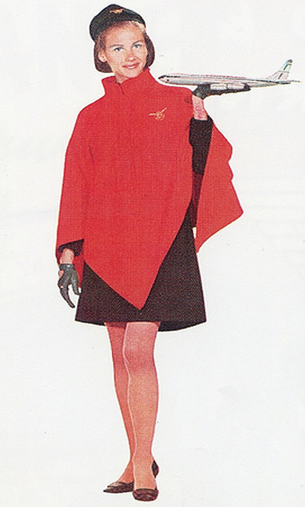 Vintage United Airlines Stewardess Picture