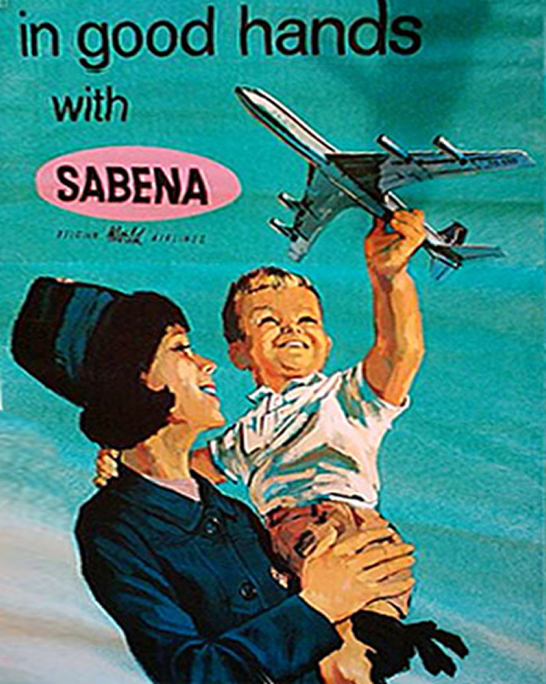 Vintage SABENA Stewardess Picture