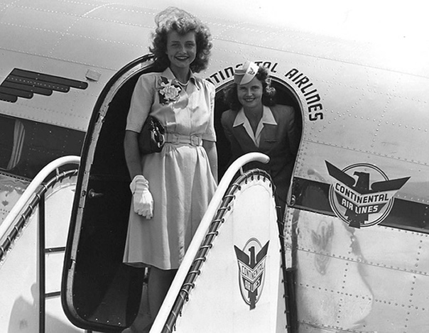 Continental Stewardess Picture