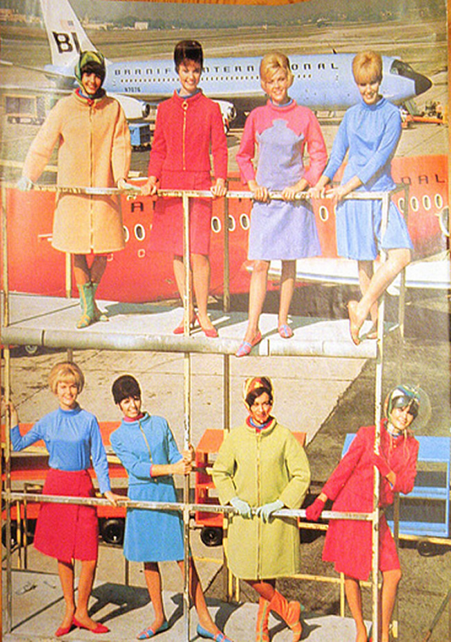 Braniff International Airlines Stewardess Photo