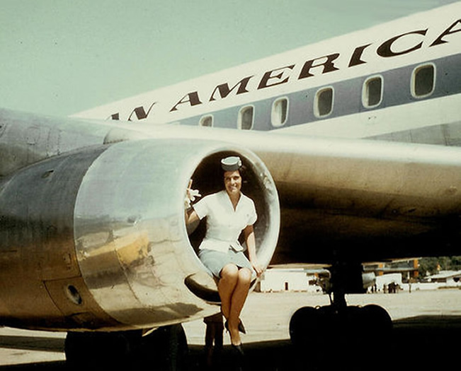 Pan American Stewardess Photo