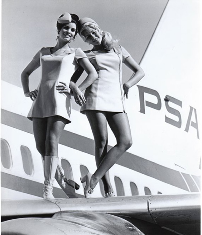 PSA airlines Stewardess Pictures