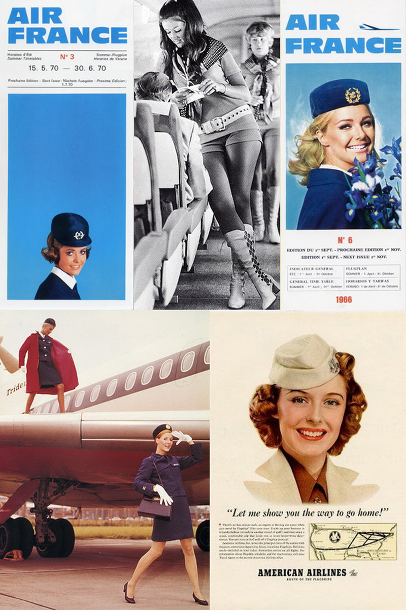 1960s vintage airline stewardesses