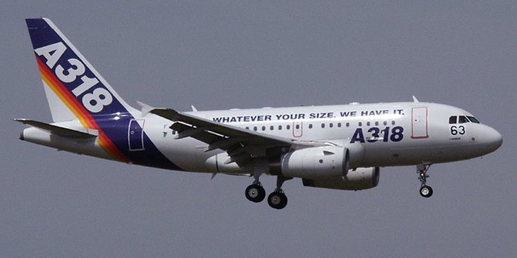 airbus a318 in company colors