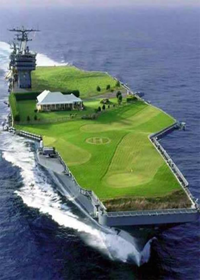 aircraft carrier golf course  Iran tells U.S.We are not in the habit of warning more than once: