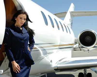 charter a jet with flight attendants