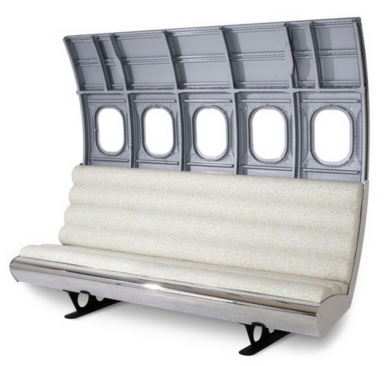 aircraft furniture airliner fuselage bench seating