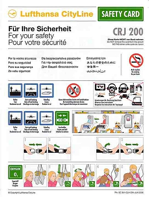 airline safety cards from airlines worldwide. Black Bedroom Furniture Sets. Home Design Ideas