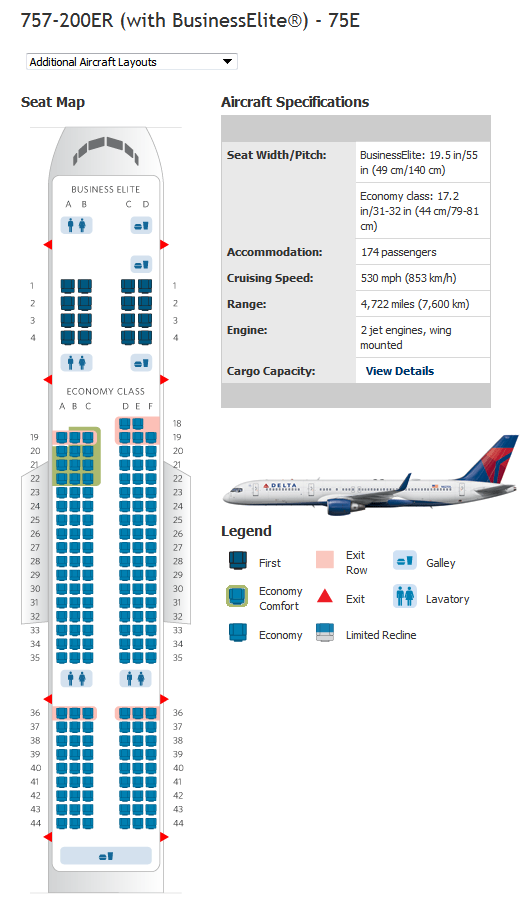 Delta Airlines Aircraft Seatmaps Airline Seating Maps And