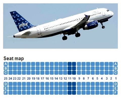 jetblue airways airbus a320 seating chart (jet blue airlines)