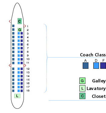 Us Airways Embraer Emb 145 Seating Map Aircraft Chart