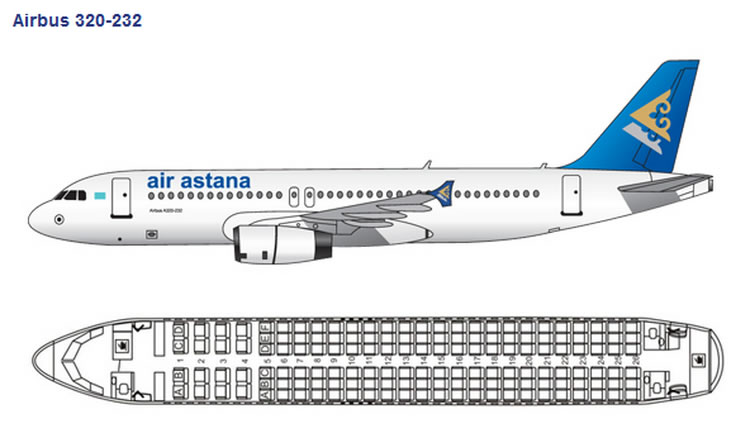Airbus 360 Seating http://www.aviationexplorer.com/air_astana_airlines_seating_charts.html