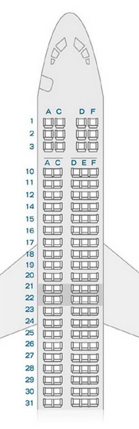 BOEING 717 AirTran AIRLINES SEATING CHART