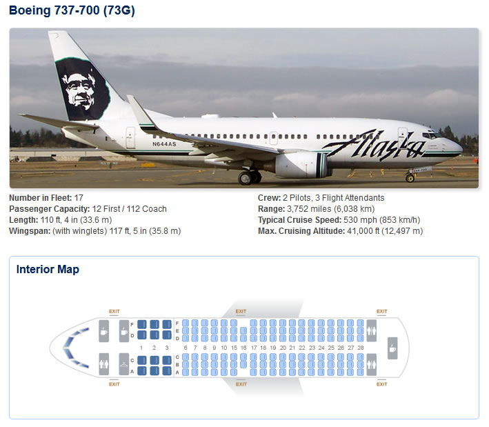 Alaska Airlines Seating Chart 737 800 Www