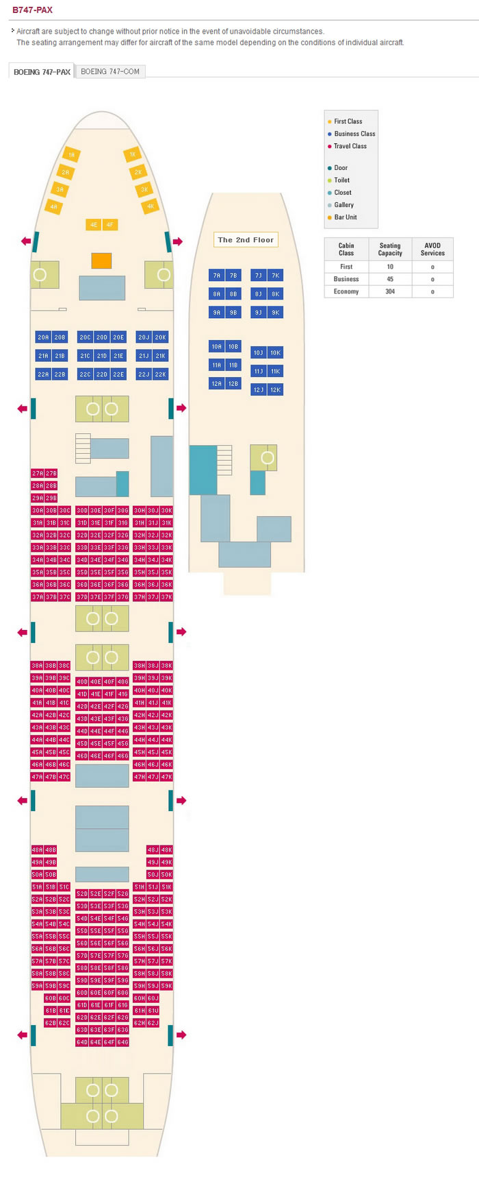Asiana Airlines Aircraft Seatmaps Airline Seating Maps
