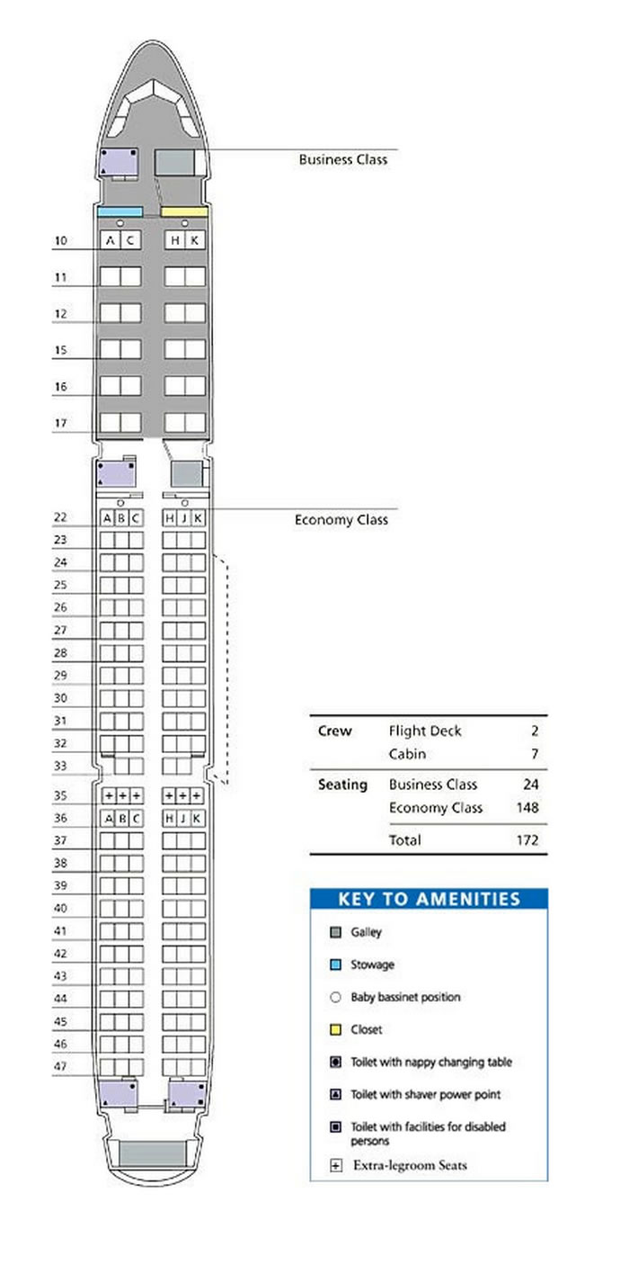 DRAGONAIR Airlines Aircraft Seatmaps - Airline Seating Maps ...