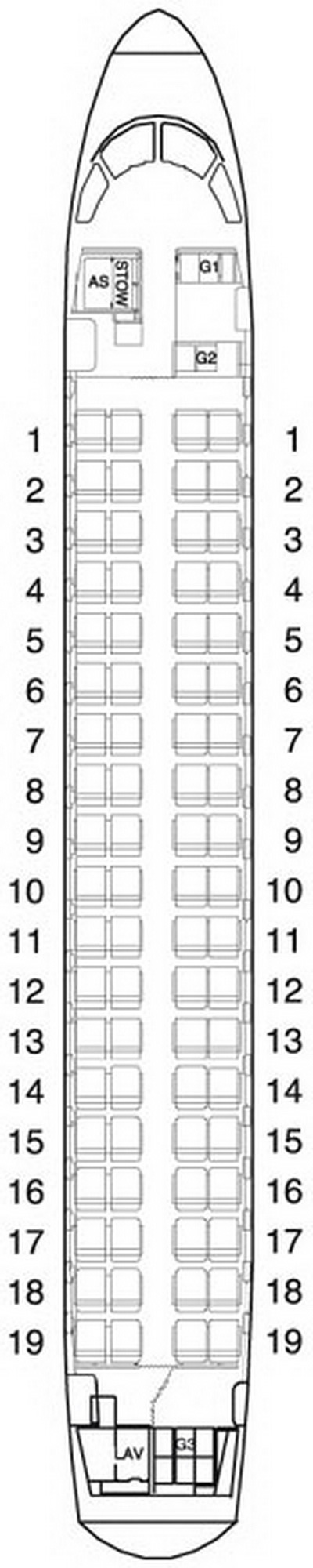 FINNAIR AIRLINES EMBRAER 170 AIRCRAFT SEATING CHART